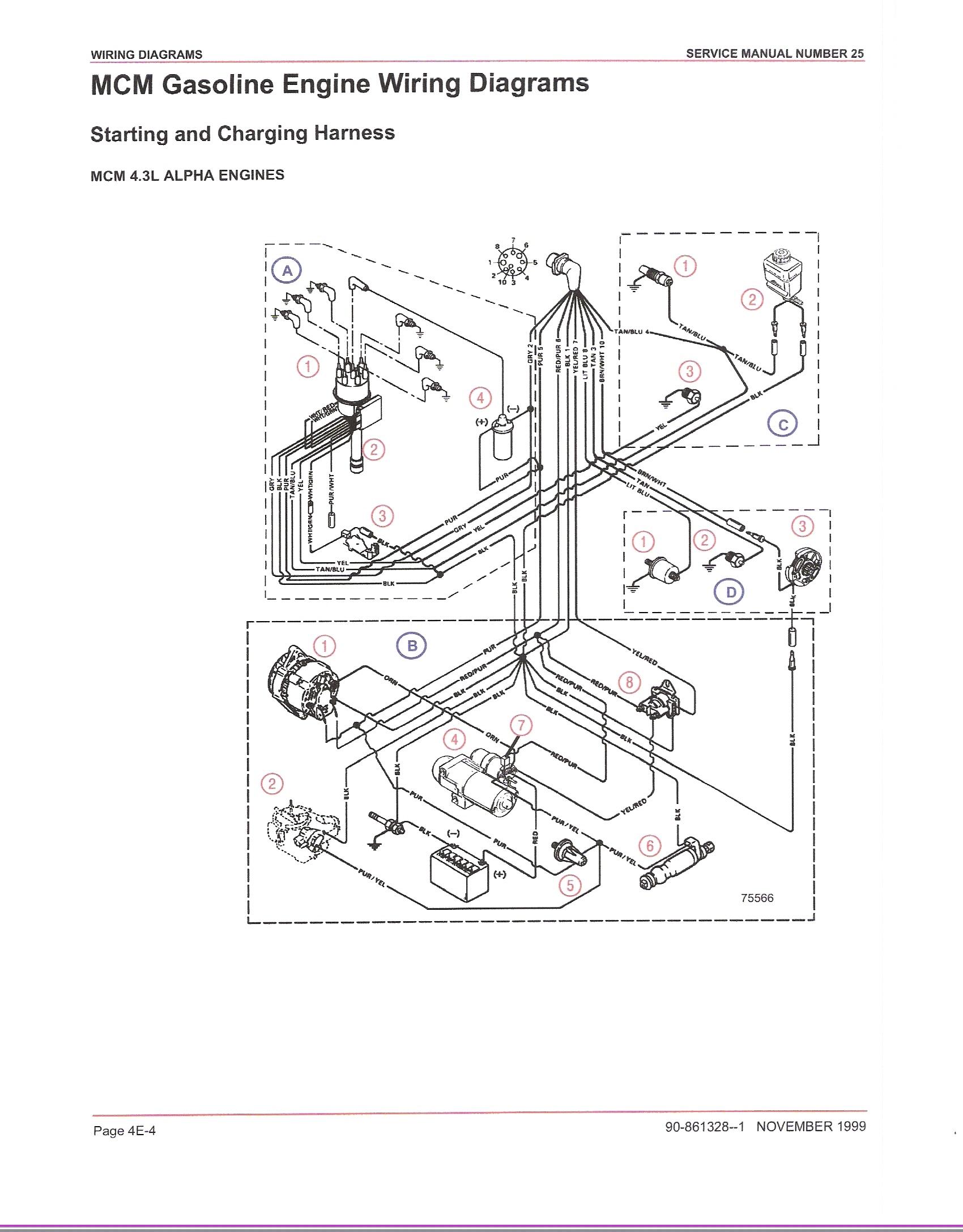 mercruiser 3.0 alternator wiring diagram