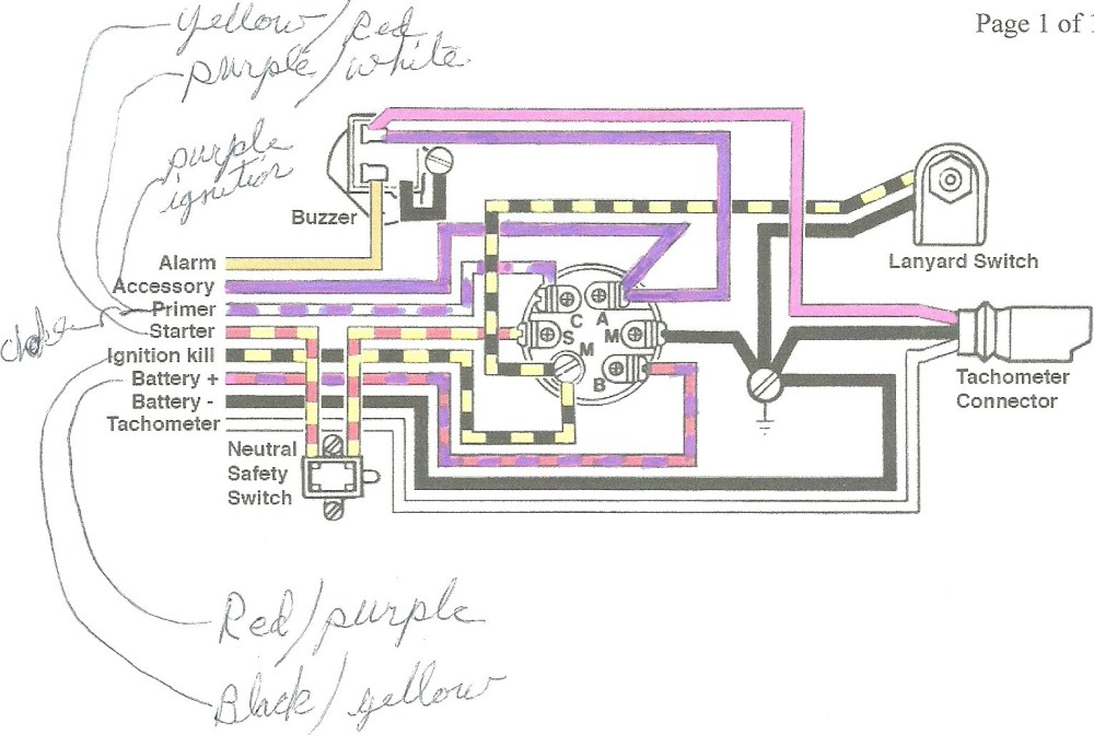 medium resolution of mercury outboard ignition switch wiring diagram