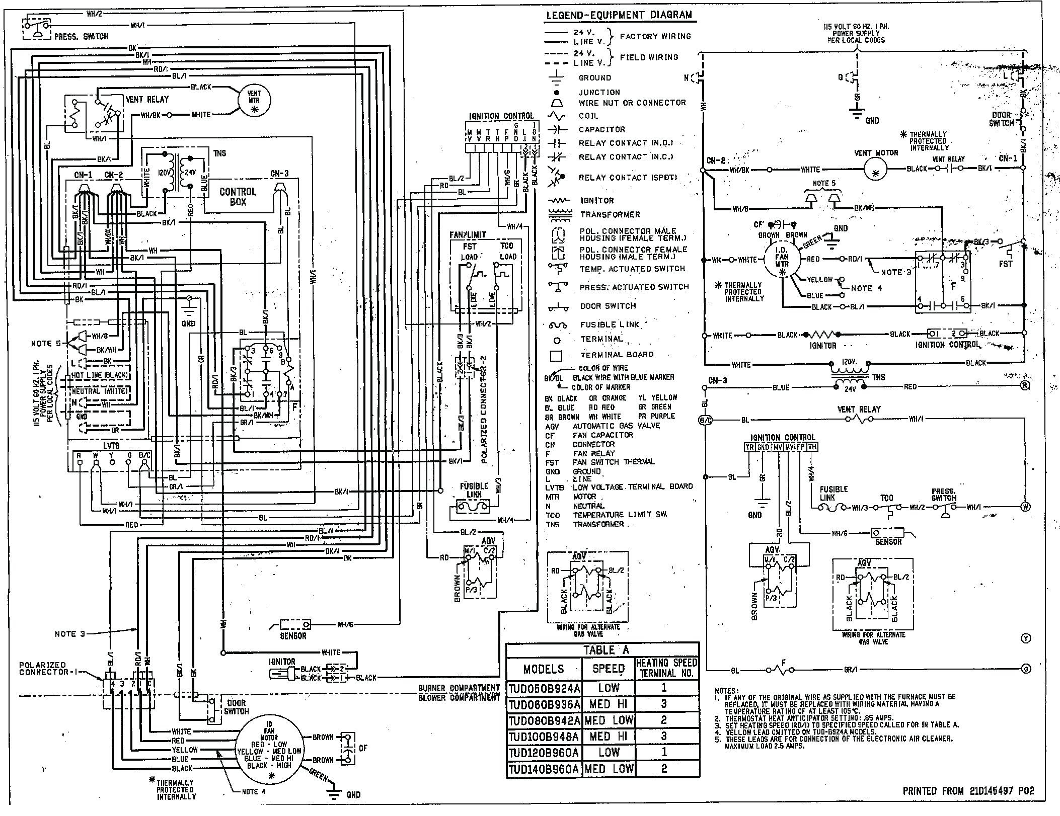 modine furnace wiring diagram