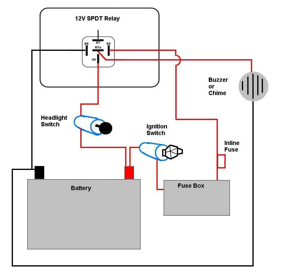 wiring diagram for vehicle spotlights