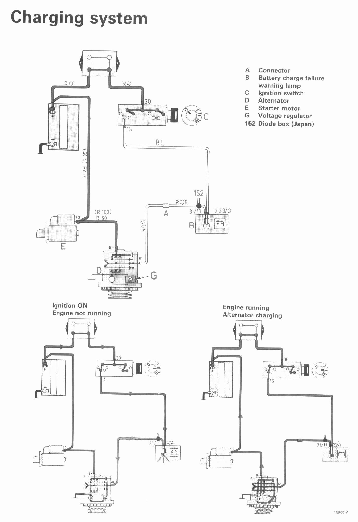Volvo Motorola Alternator External Regulator Wiring Diagram - Wiring on