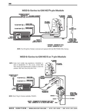 Msd 6al Hei Wiring Diagram | Free Wiring Diagram