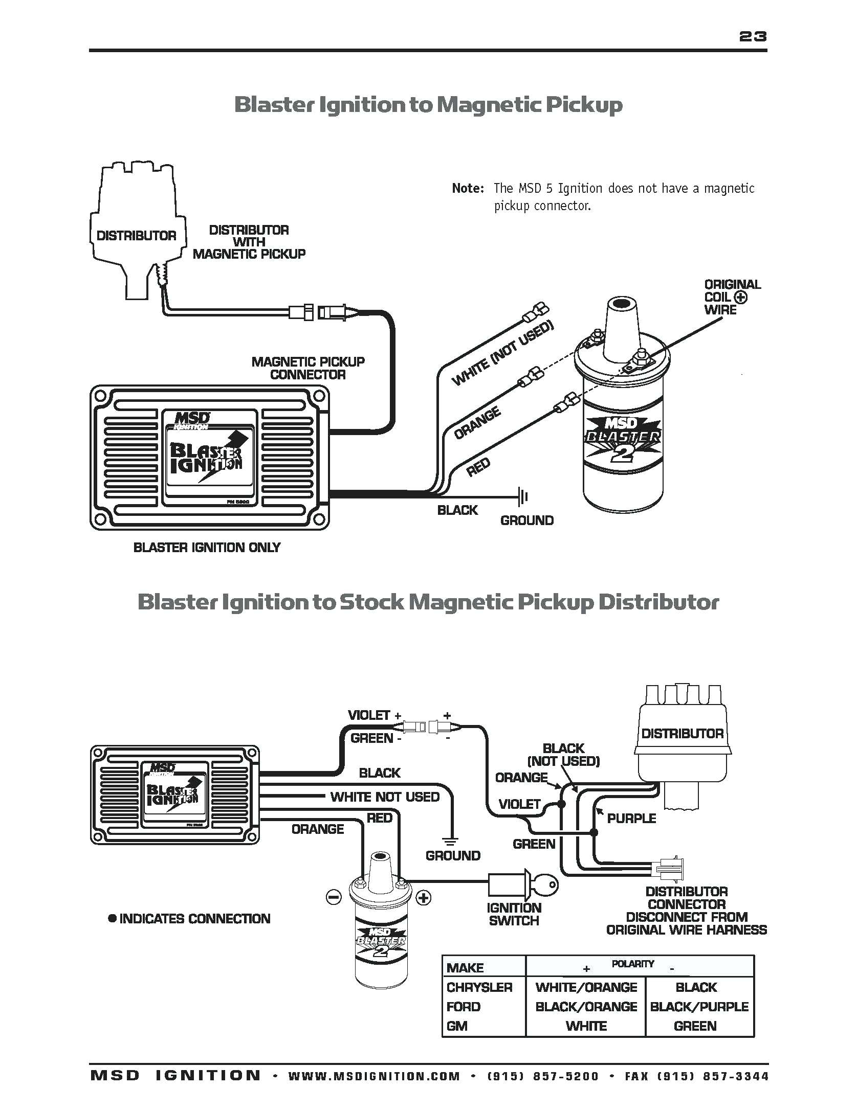 wire diagram msd distributor