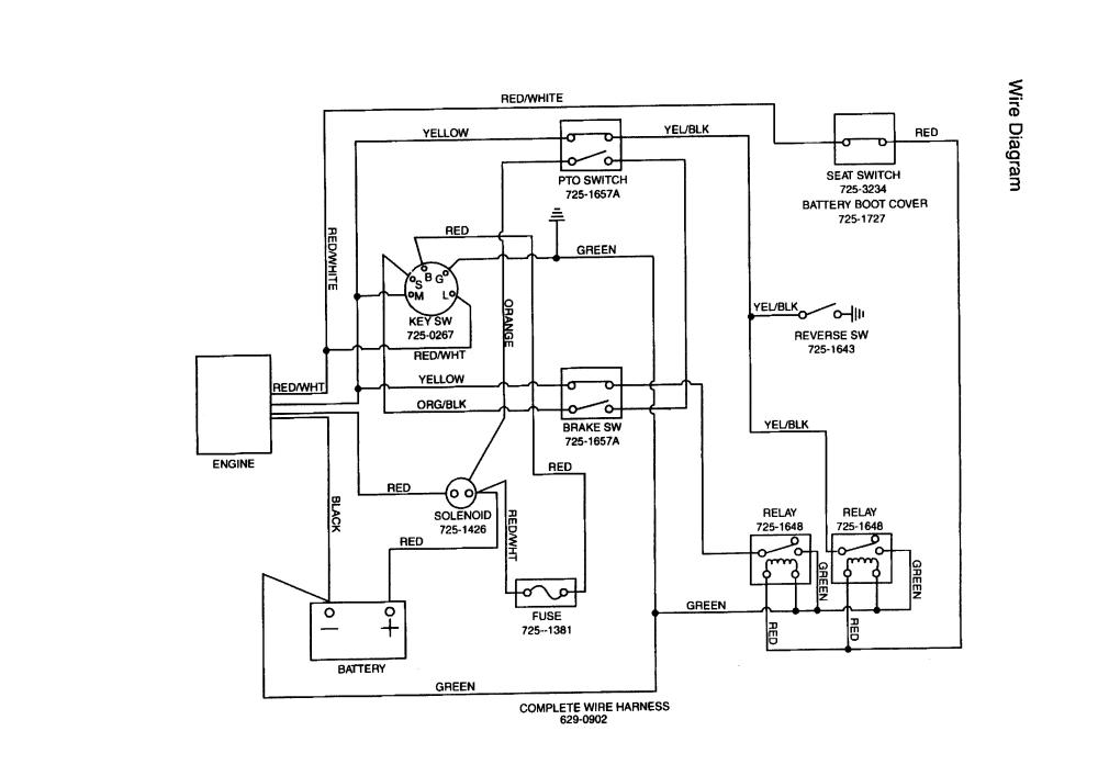 medium resolution of mtd riding lawn mower wiring diagram