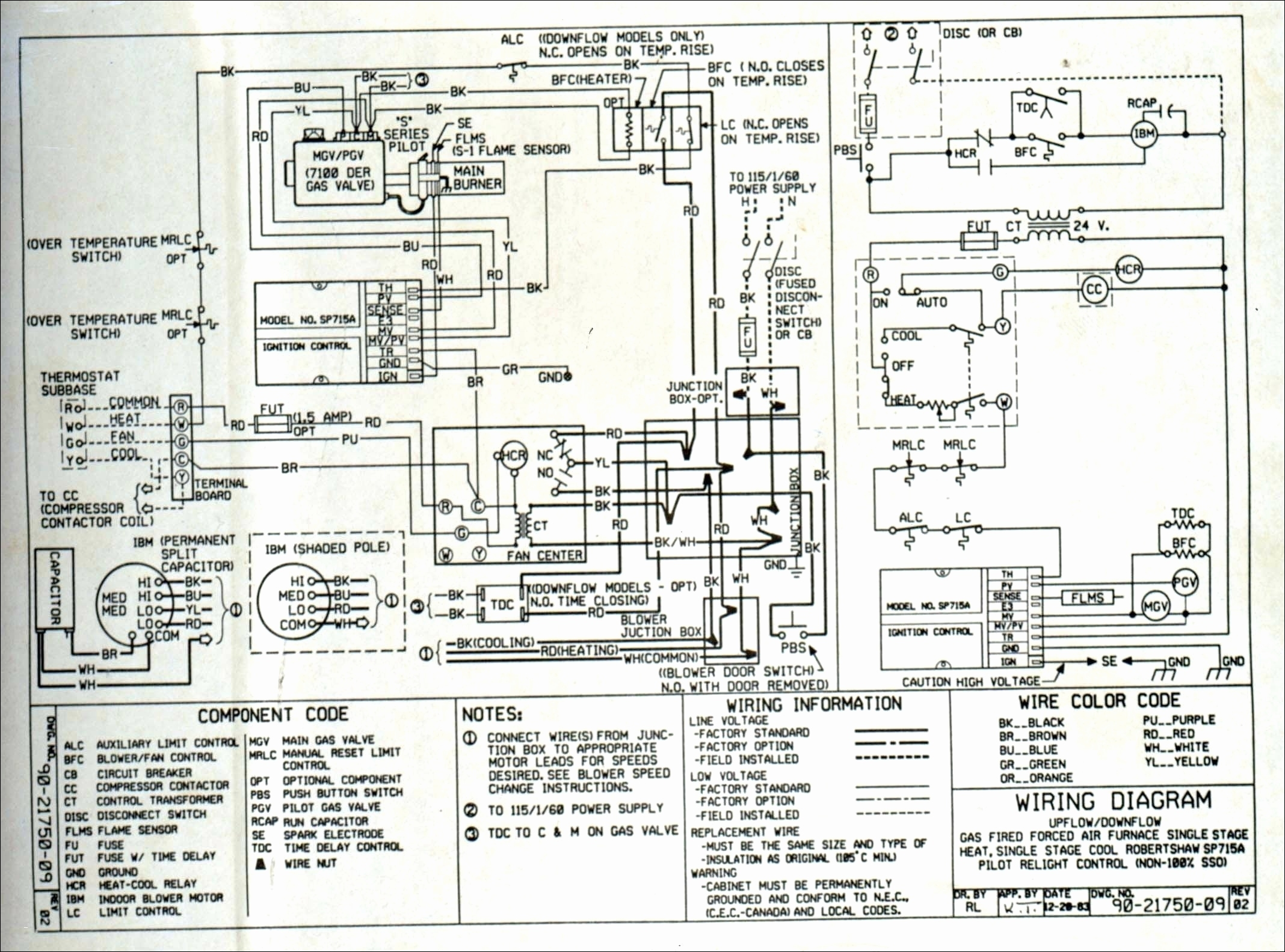 Nordyne Circuit Board Wiring Diagram