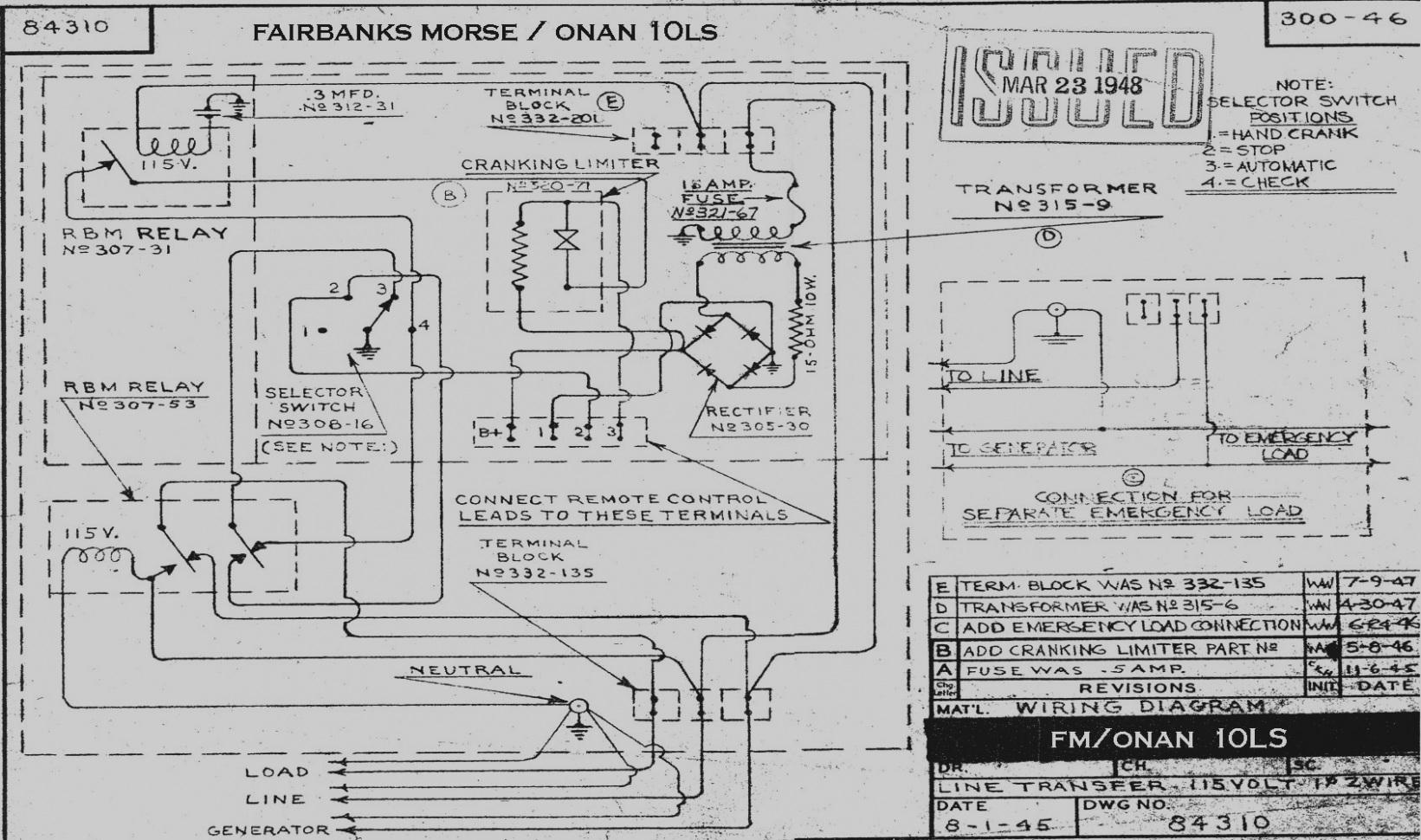 in a rv onan generator wiring
