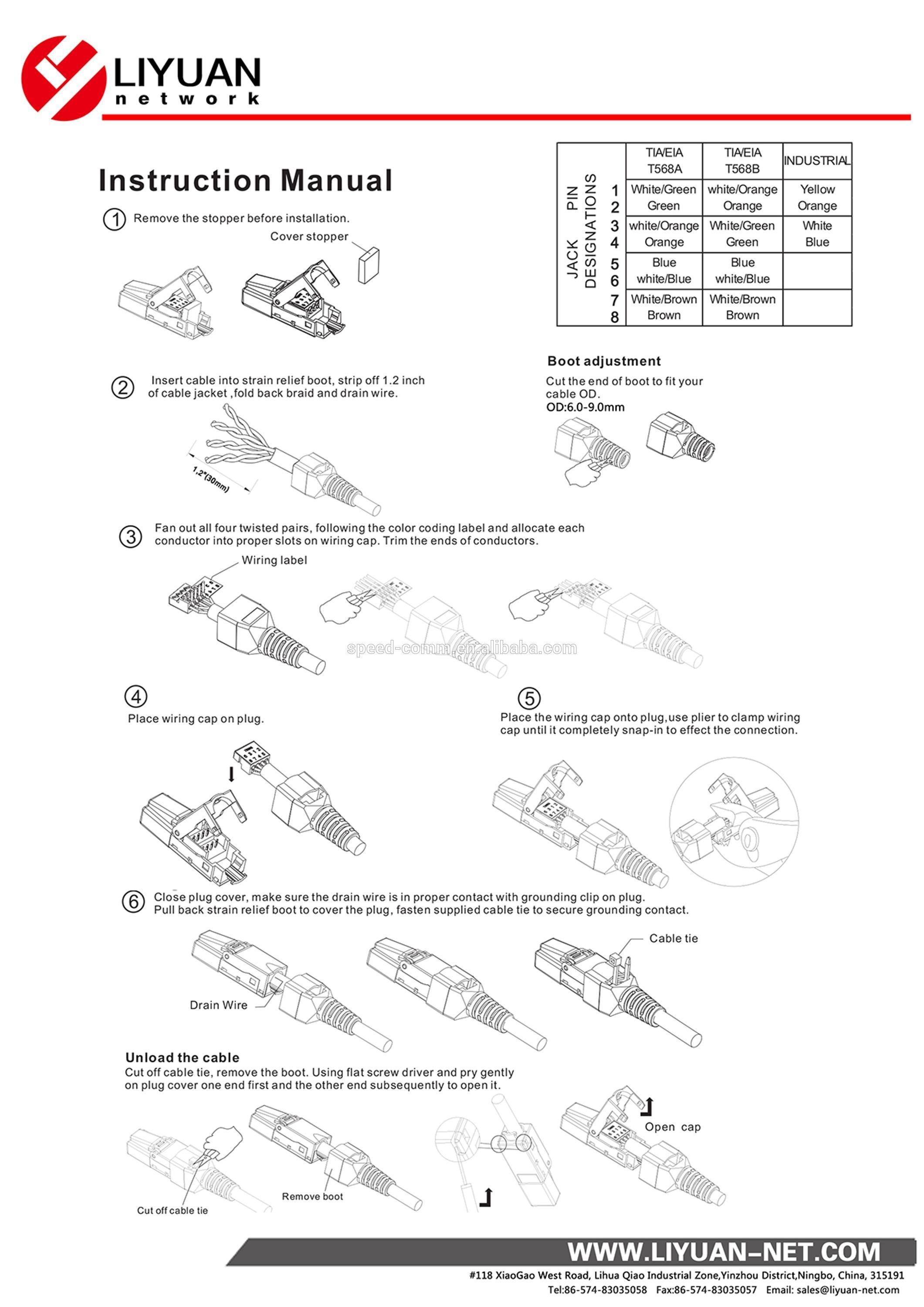 Panduit Cat6 Jack Wiring Diagram