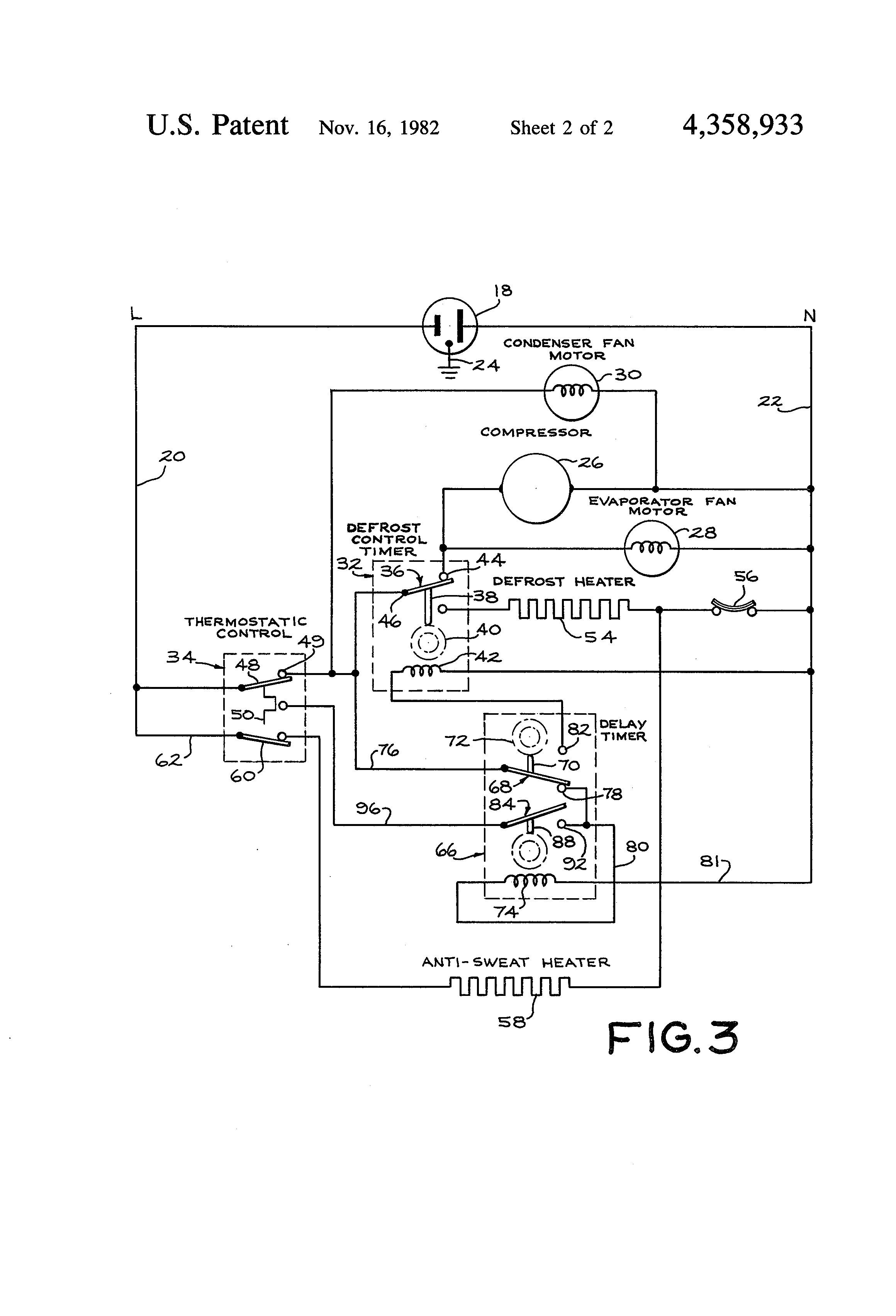 schematic wiring diagram of a refrigerator