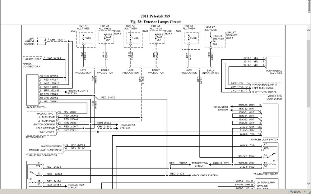 medium resolution of peterbilt 389 wiring schematic peterbilt wiring diagram universal turn signal 387 fuse box diagrams simple
