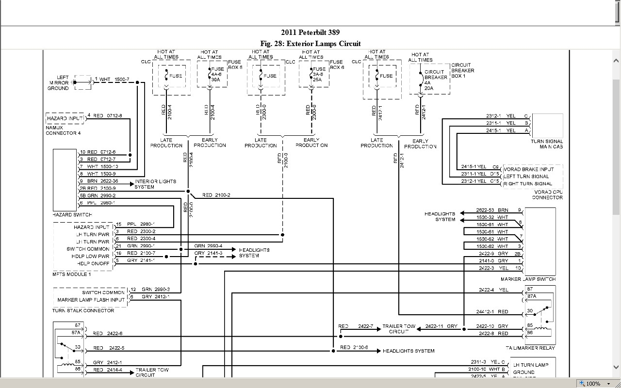 hight resolution of peterbilt 389 wiring schematic peterbilt wiring diagram universal turn signal 387 fuse box diagrams simple