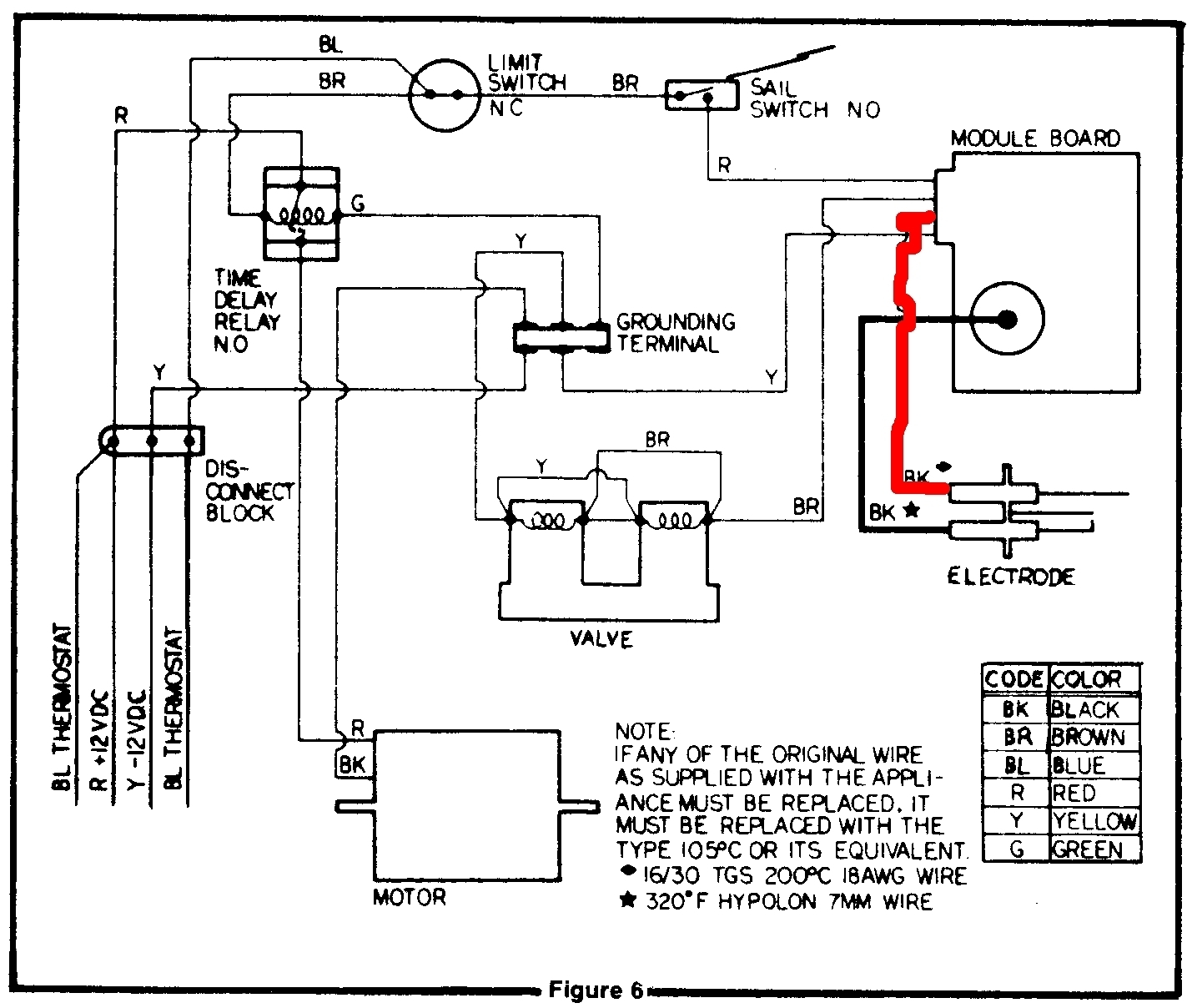 wiring diagram for dometic thermostat