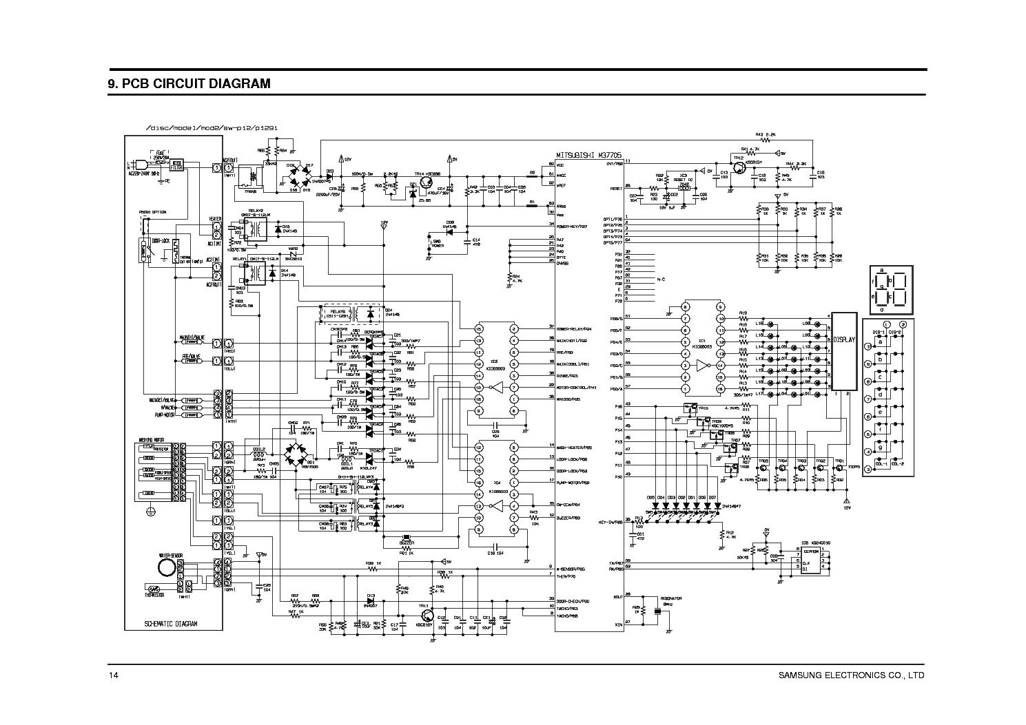 Samsung Washing Machine Wiring Diagram