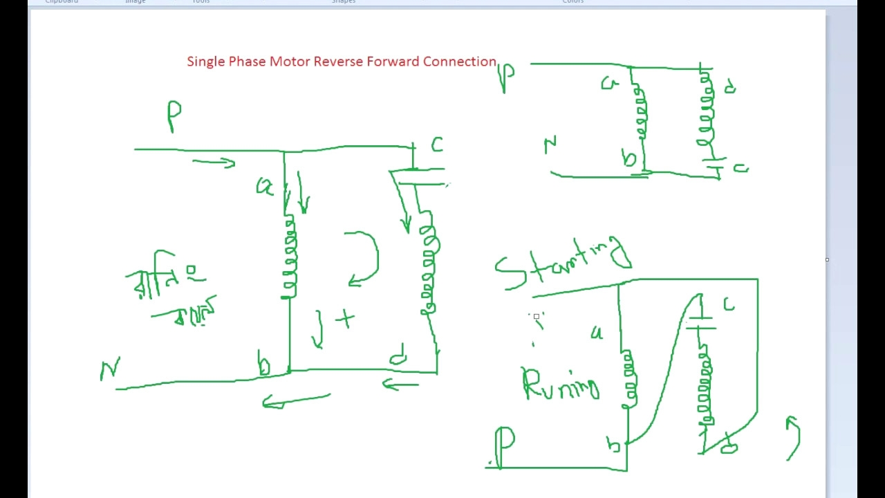 Single Phase Diagram Wiring
