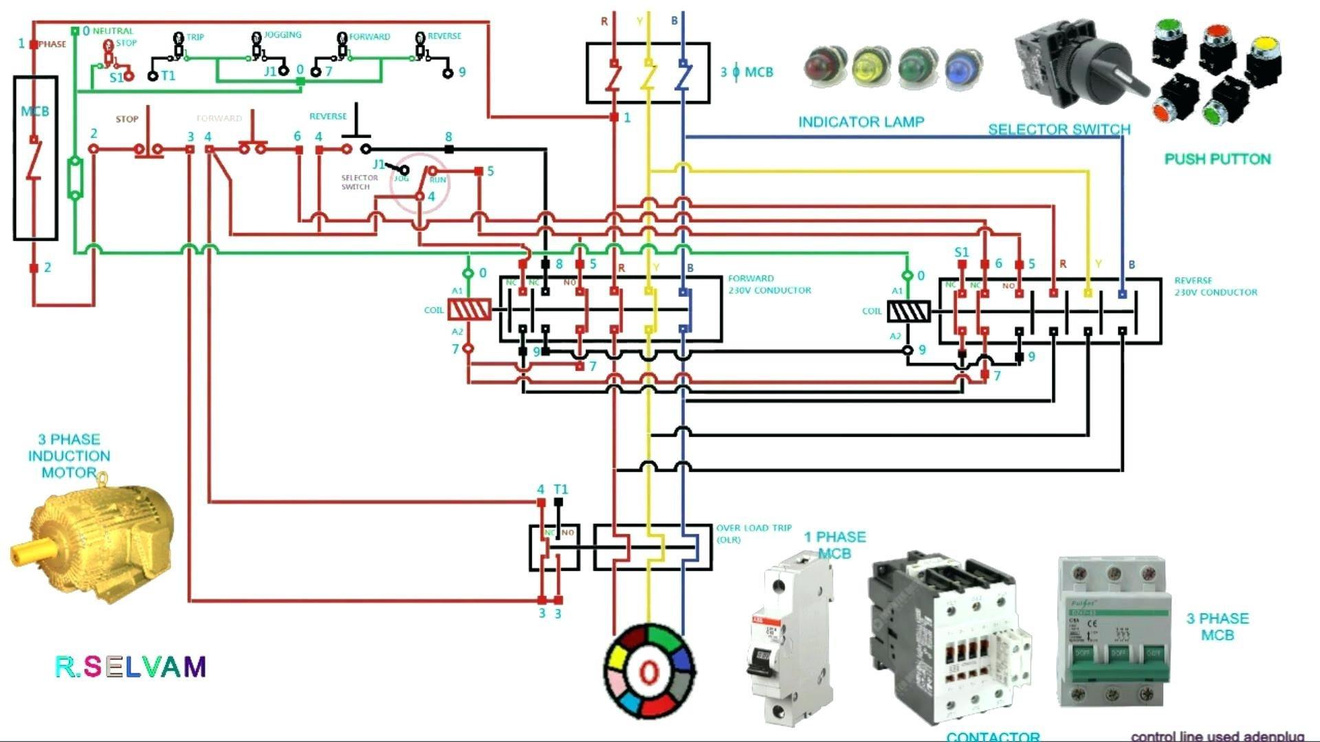 hight resolution of single phase submersible pump starter wiring diagram circuit diagram contactor best 3 phase motor starter