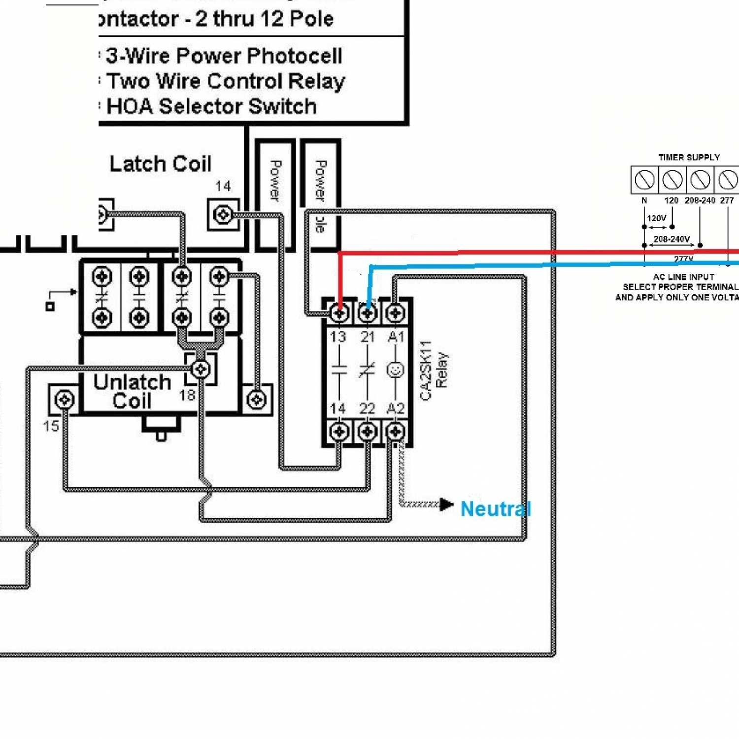How To Wire A Square D Lighting Contactor: Lighting Contactor With  Photocell Wiring Schematic.
