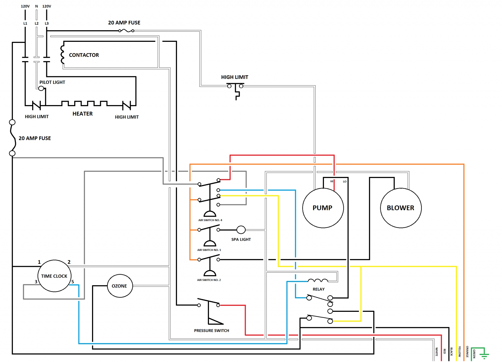 hight resolution of square d hot tub gfci breaker wiring diagram