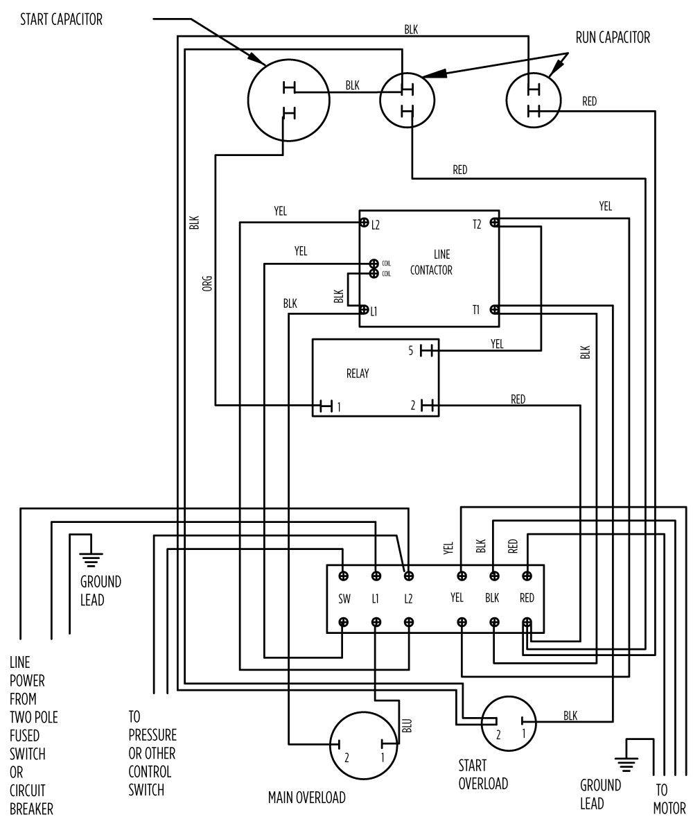 wiring diagram submersible water pump