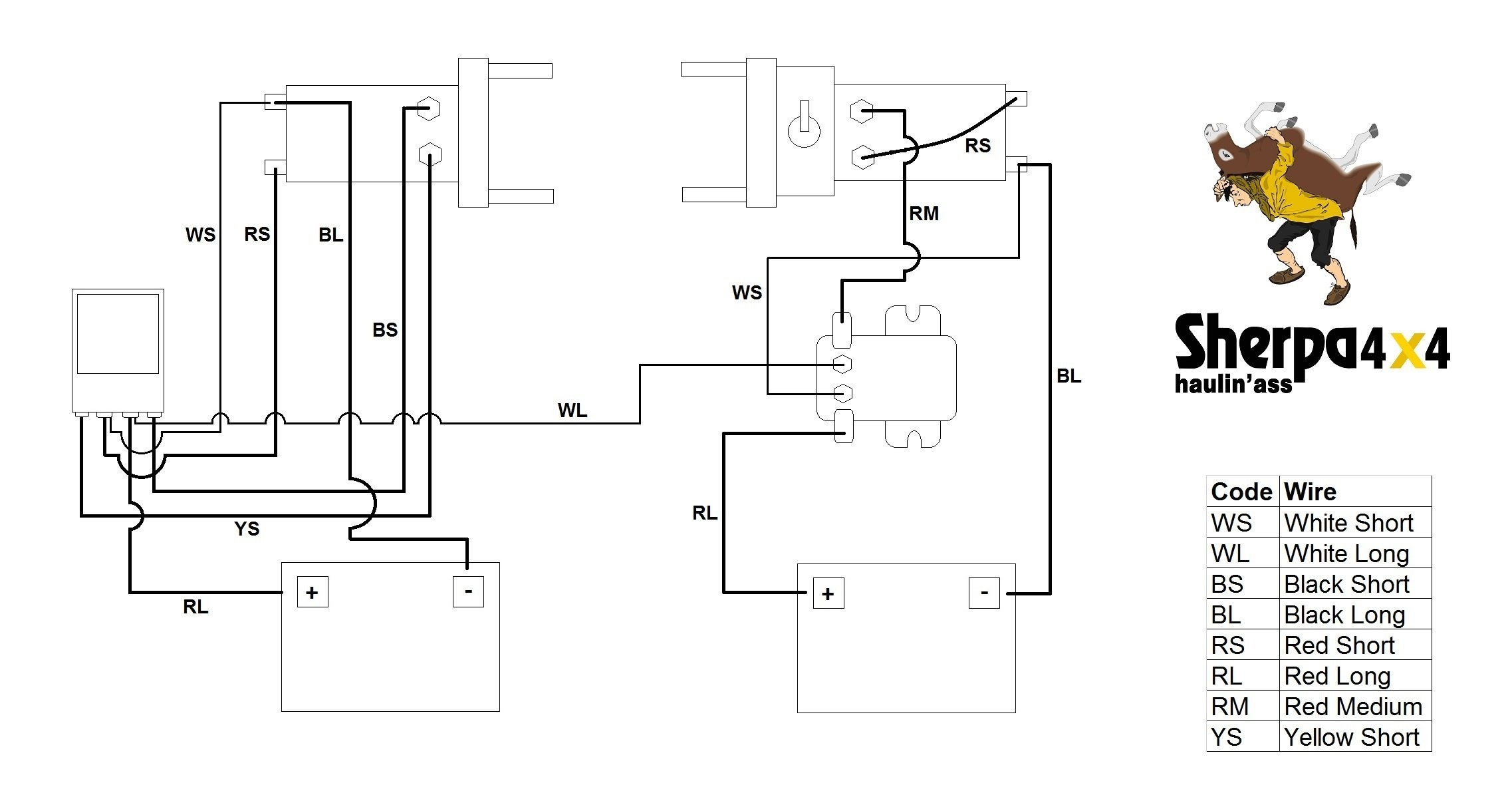 electric trailer winch wiring diagram