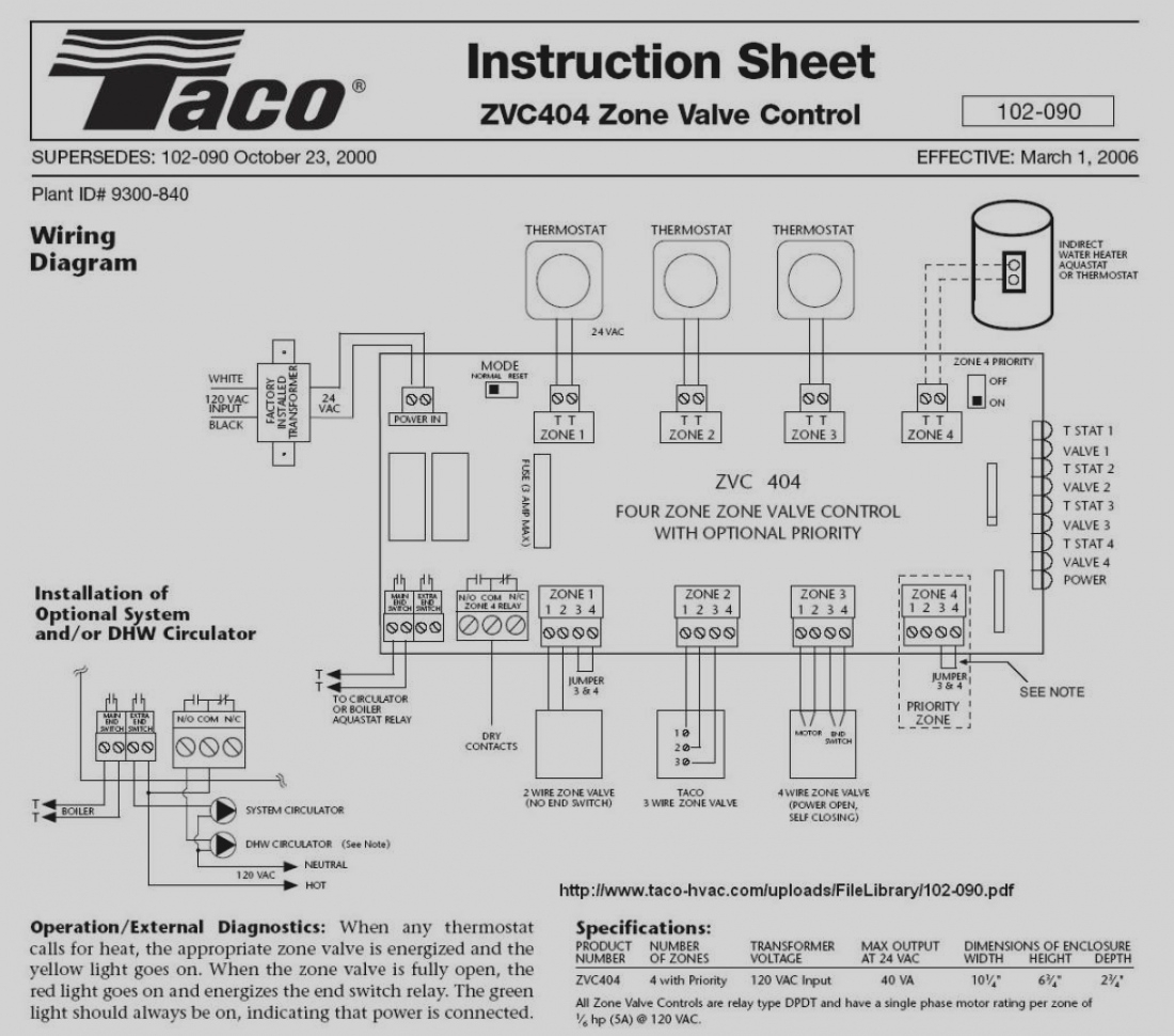 taco zone valve wiring diagrams