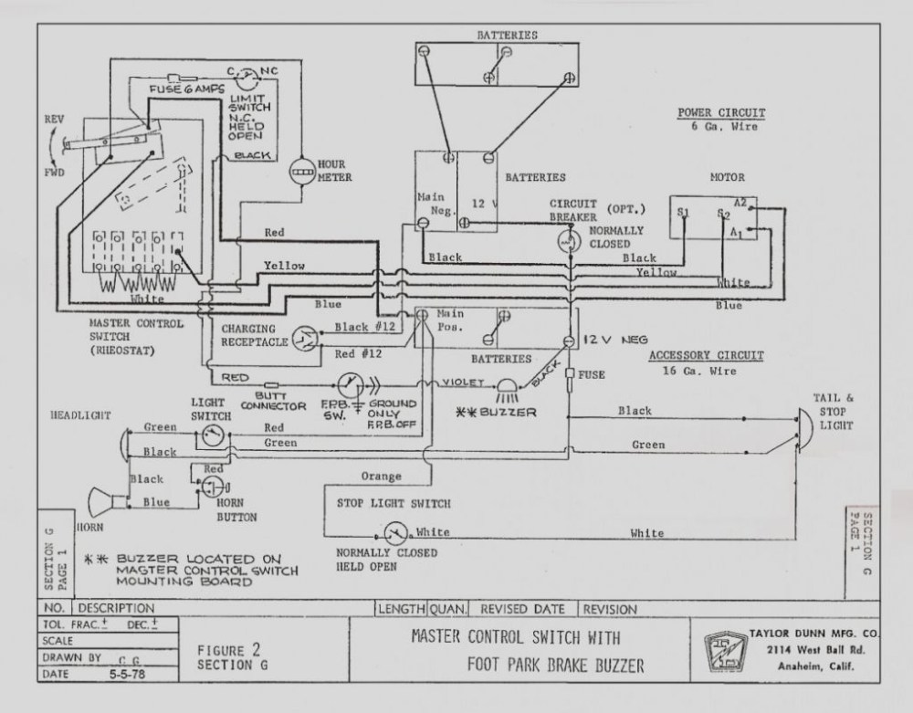 medium resolution of taylor dunn 36 volt wiring diagram