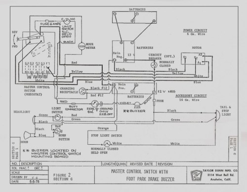 small resolution of taylor dunn 36 volt wiring diagram