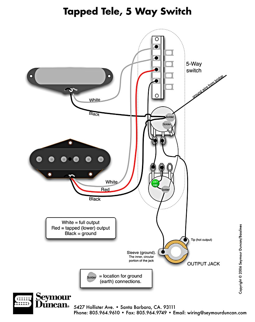 Seymour Duncan Single Coil Wiring Diagram