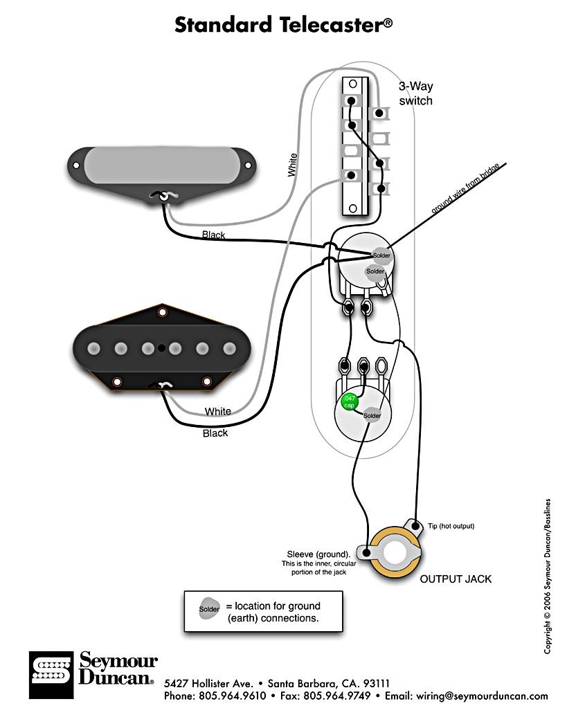 hight resolution of telecaster 3 pickup wiring diagram standard tele wiring diagram 1d
