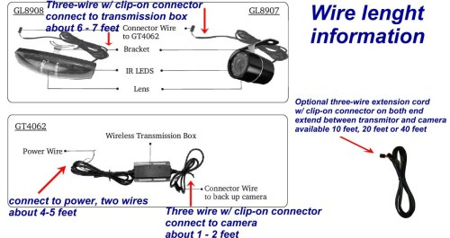 small resolution of tft lcd monitor reversing camera wiring diagram