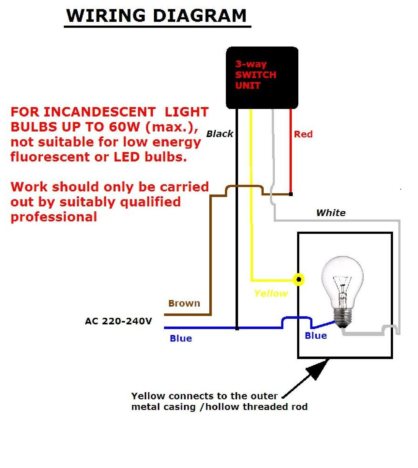 hight resolution of touch dimmer wiring diagram to wire a ceiling light bulb socket also 3 way dimmer