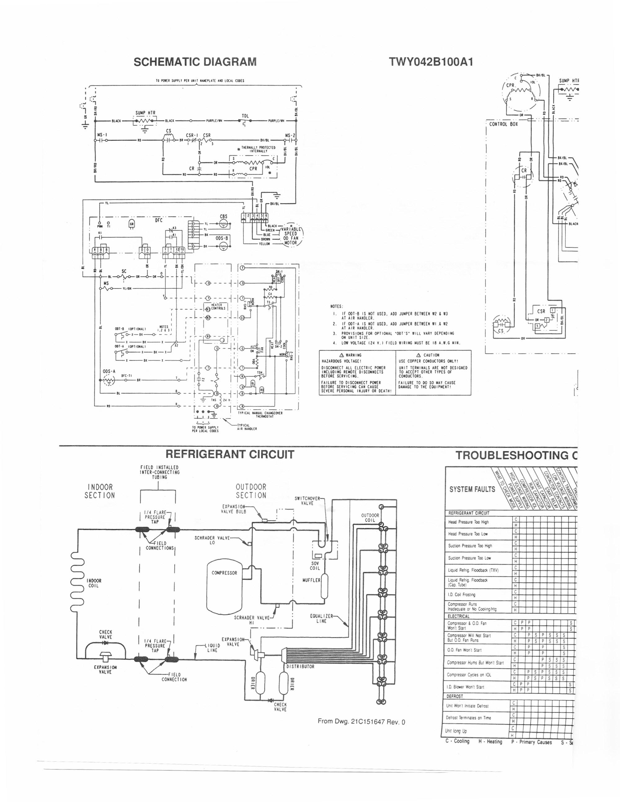 hight resolution of trane heat pump wiring diagram trane air conditioner wiring schematic handler diagram for solidfonts new