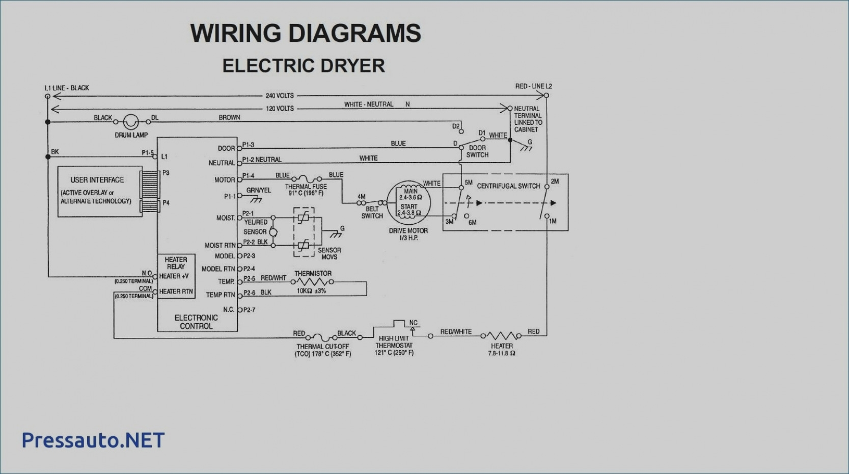 [DIAGRAM] Whirlpool Electric Dryer Wiring Diagram FULL