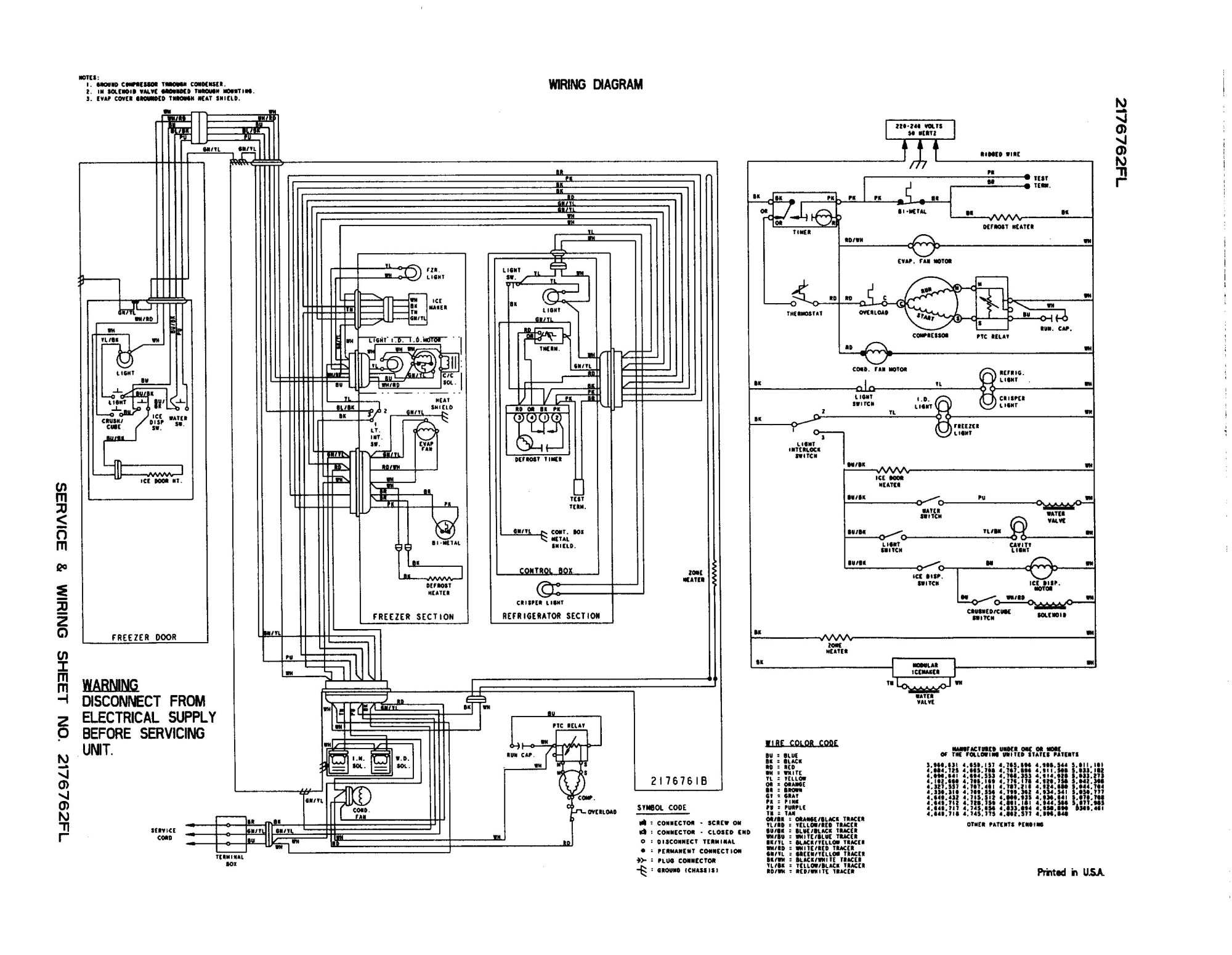hight resolution of whirlpool refrigerator wiring diagram