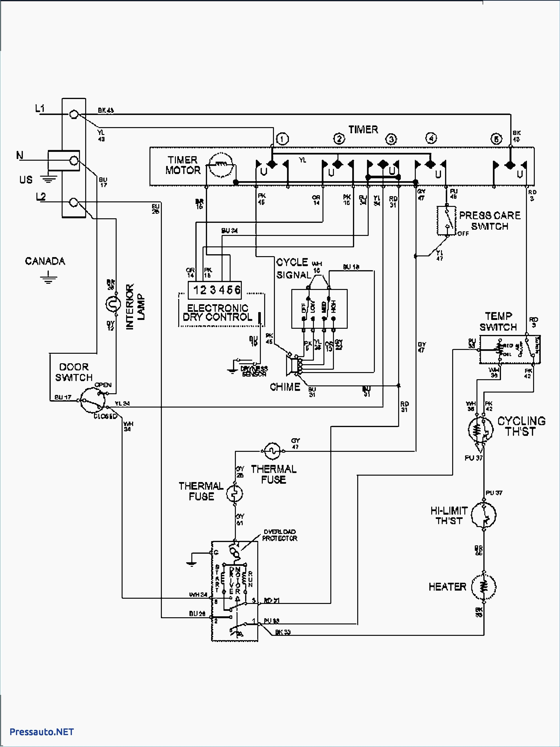 Wiring Diagram For Estate Dryer