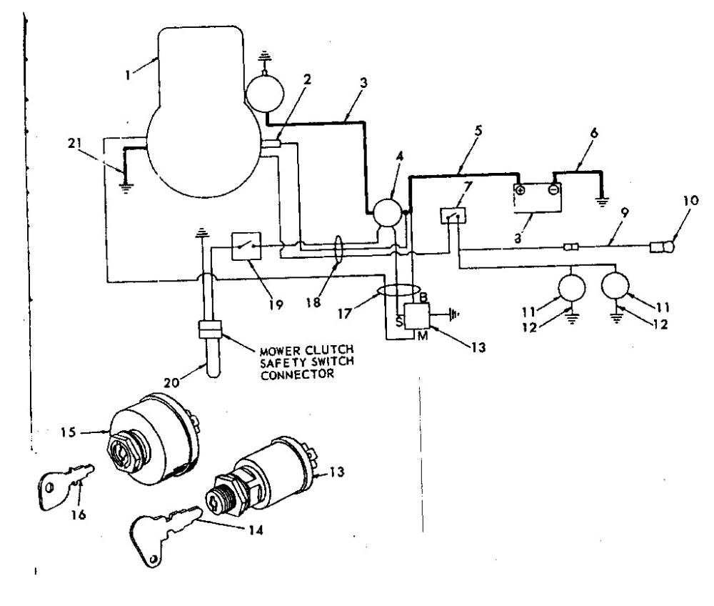 medium resolution of wiring diagram 12 riding lawn mower ignition switch ignition system on scag mowers wiring diagram wiring diagram for husqvarna