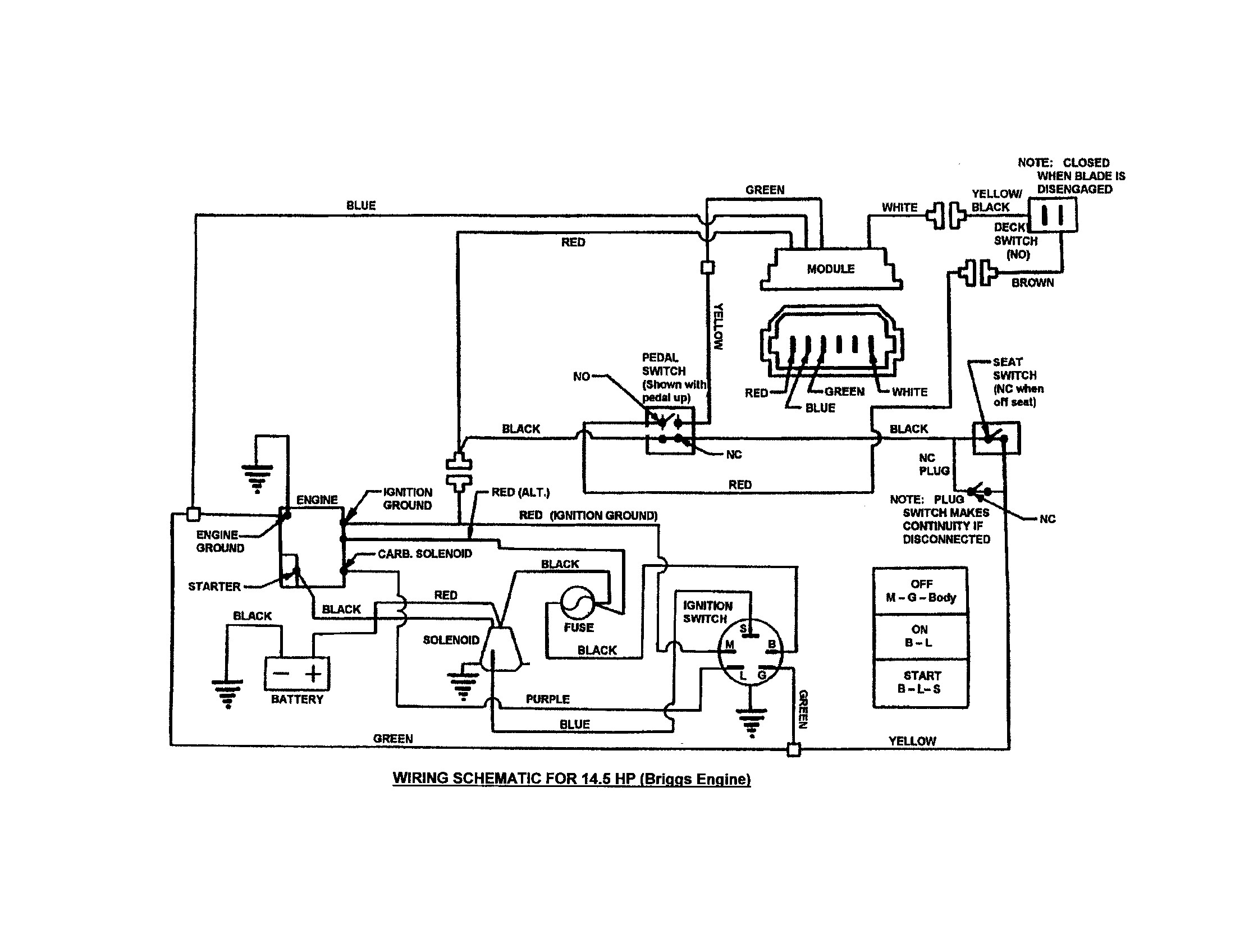 Wiring Diagram For Ignition Switch On 16 Hp Lawn Tractor