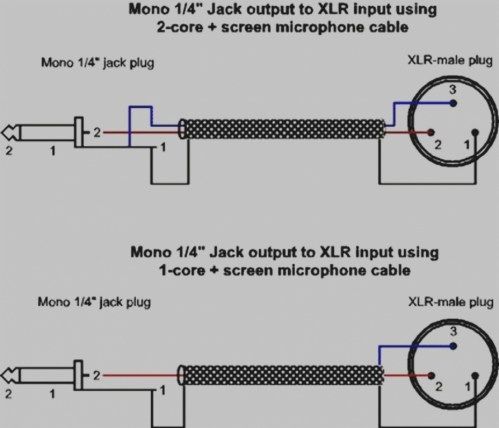 small resolution of xlr to mono jack wiring diagram