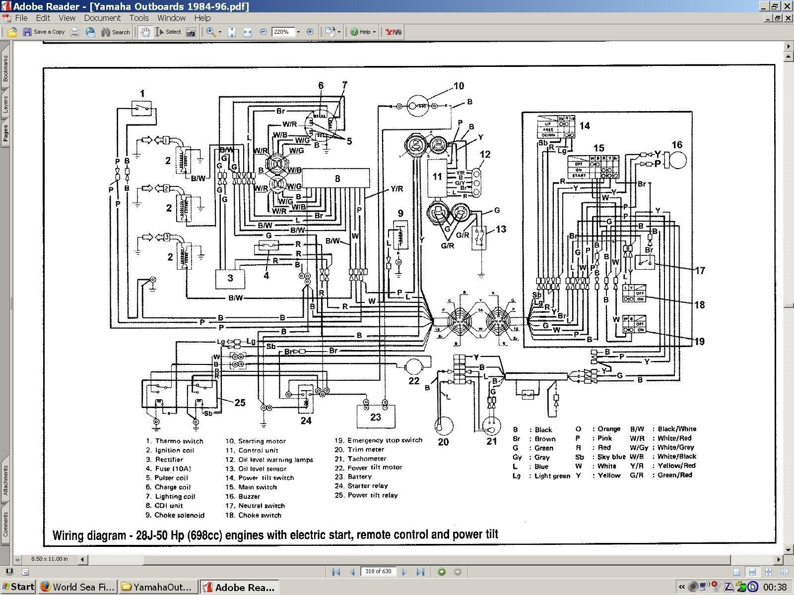 Yamaha 250 Outboard Wiring - Technical Diagrams on