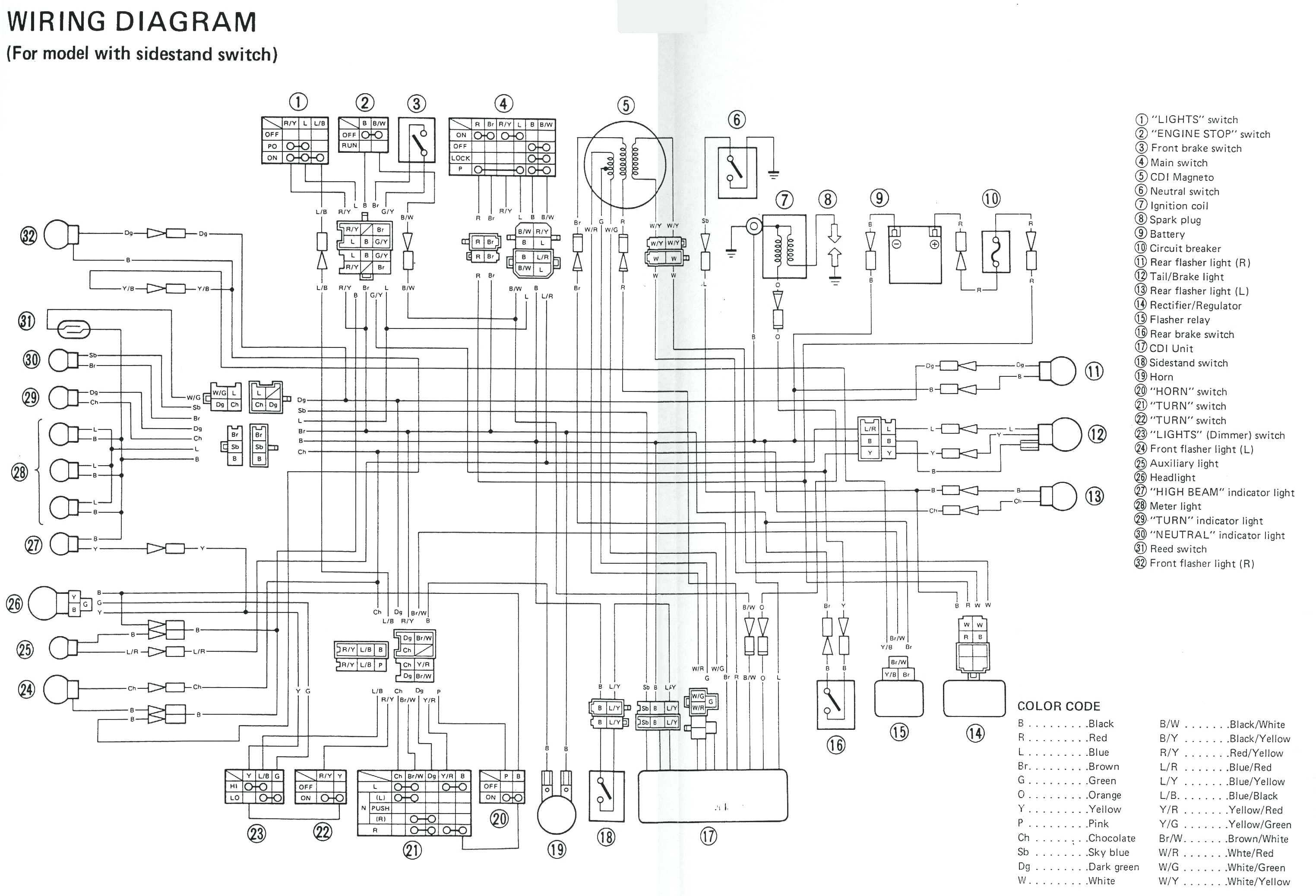 wiring diagrams yamaha vega r