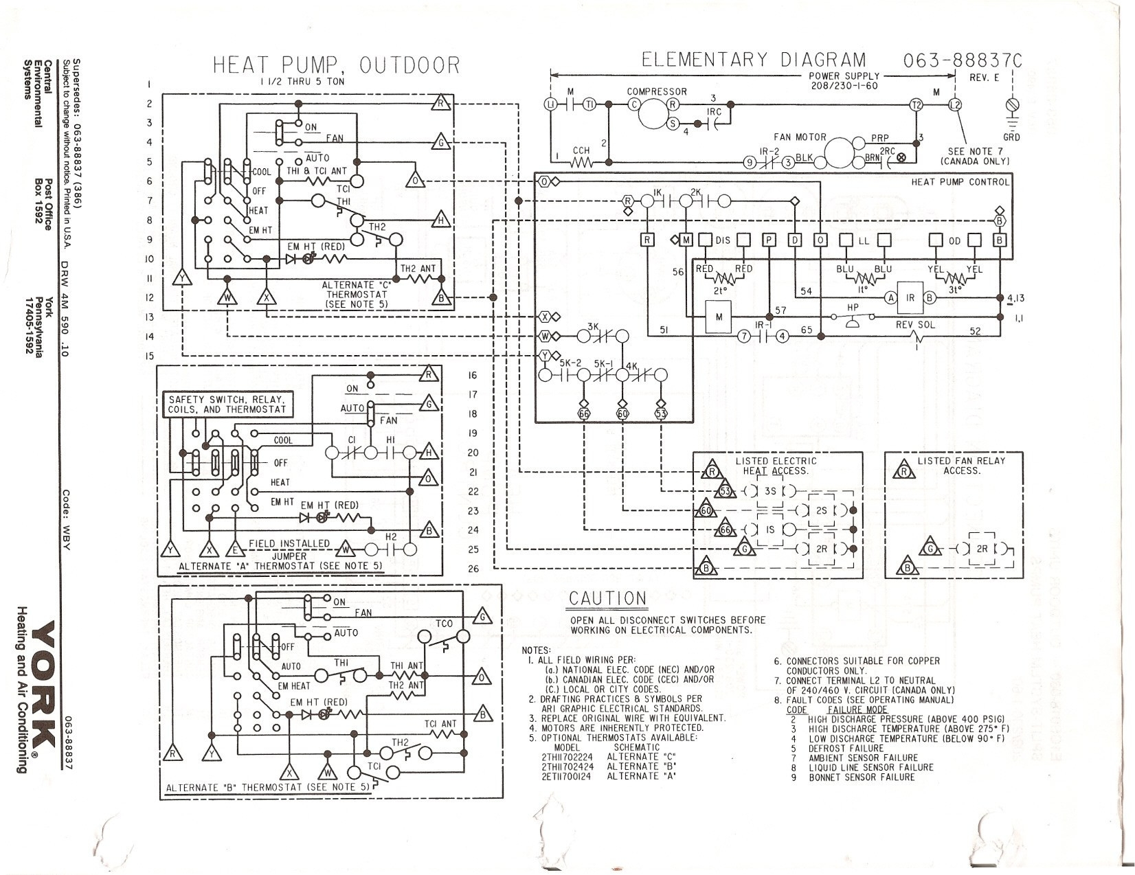 schematics york wiring b1hp wiring diagrams folder combined heat and ac units york schematics #4
