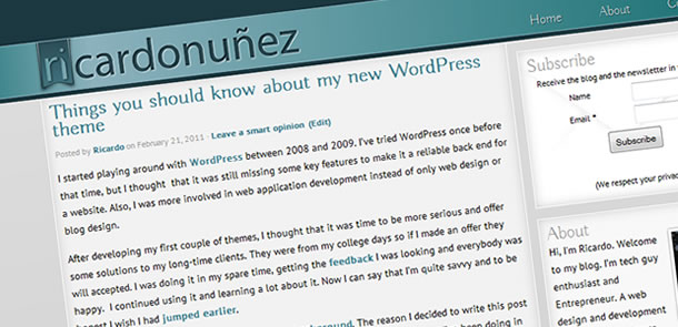 ricardo nunez wordpress theme screenshot