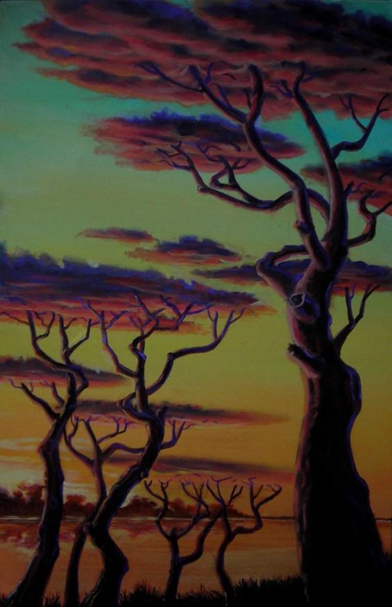 tra terra e cielo - 50x70 -oil on canvas - 2008