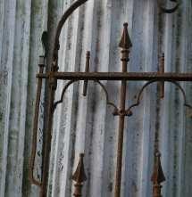 Antique Stewart Iron Works Wrought Gate