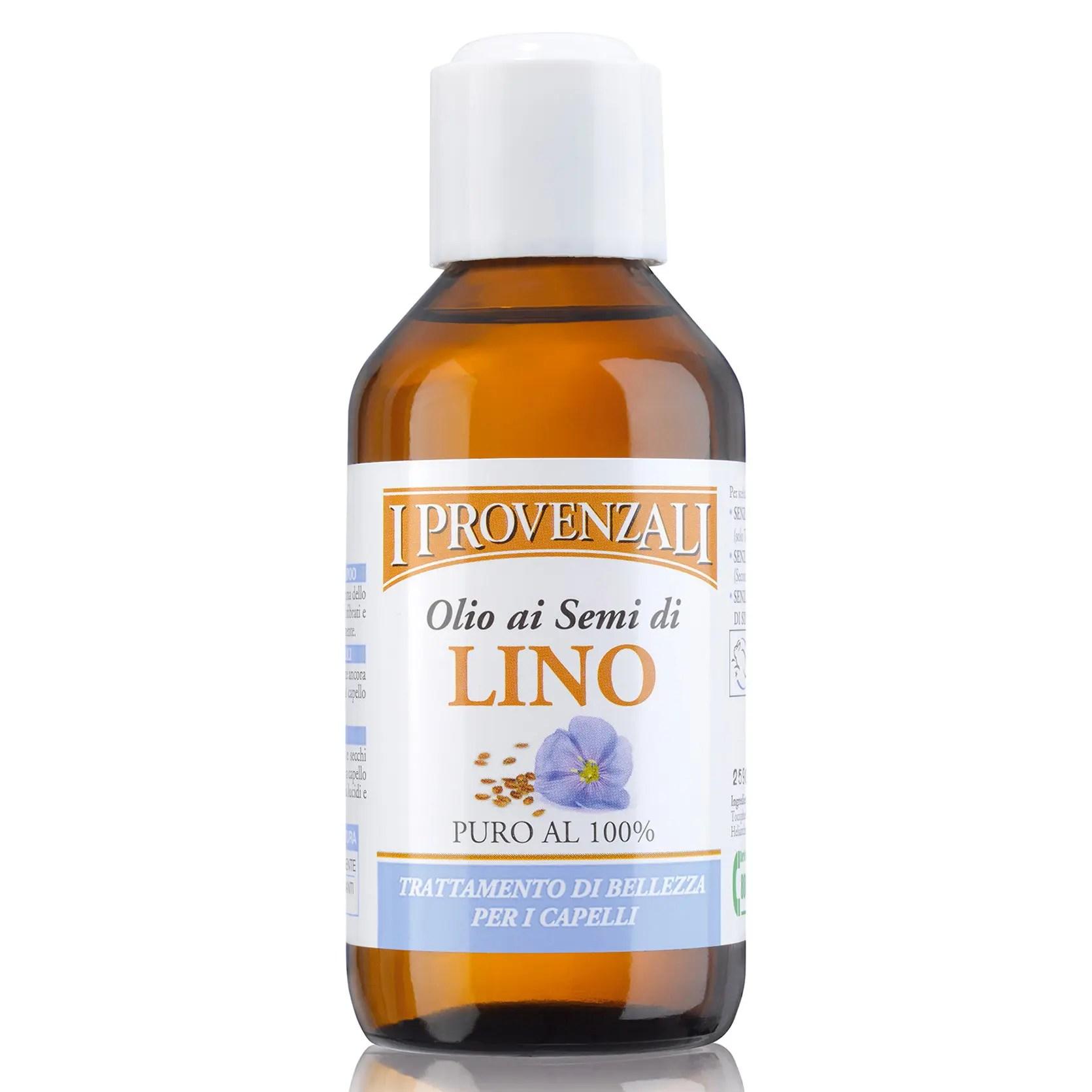 Olio ai semi di lino per capelli ricci