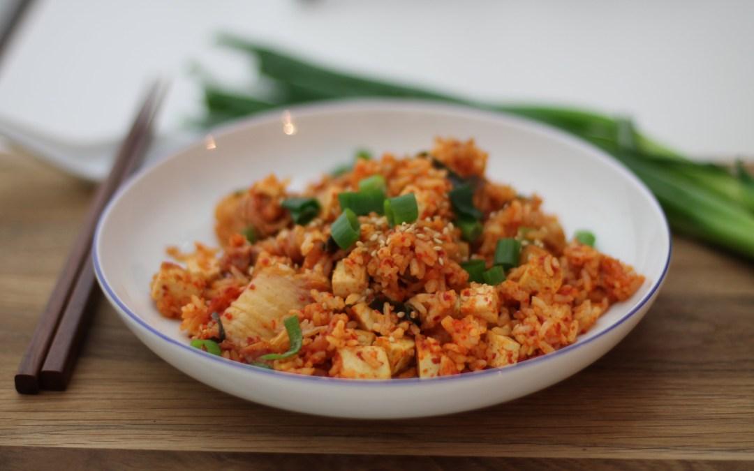 Rezept: Gebratener Reis mit Tofu und Kimchi