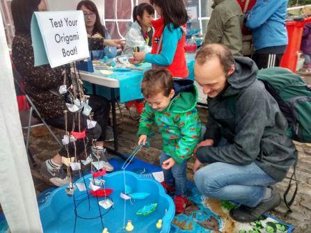 Testing origami boats