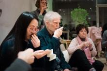 Sampling five authentic teas