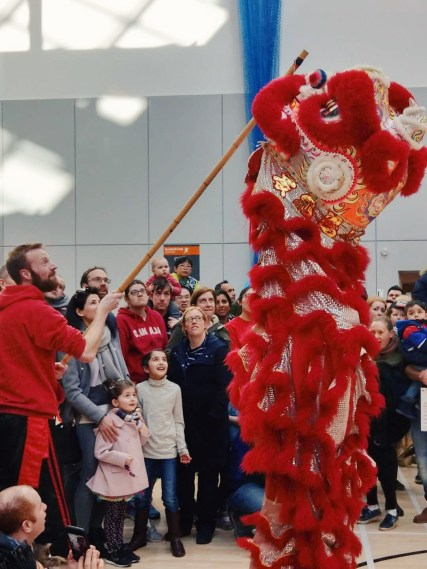 Lion Dance for Chinese New Year