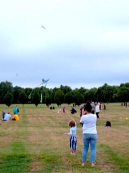 Family kite flying