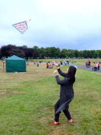 Rita flying a kite