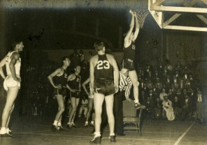 Basketball with chair 1936